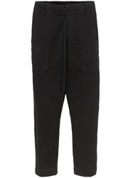 Greg Lauren Drawstring Jeans Black