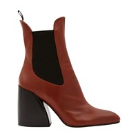 Chloe Wave Ankle Boots Sepia Brown