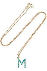 Jennifer Meyer Letter 18 Karat Gold Diamond Necklace E