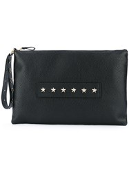Red Valentino Star Studded Clutch Women Calf Leather One Size Black