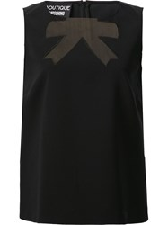 Boutique Moschino Cut Out Bow Blouse Black