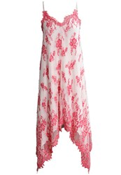 Patrizia Pepe Maxi Dress Coral White Pink
