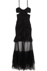 Alice Mccall The Only Exception Cutout Layered Tulle Maxi Dress Black