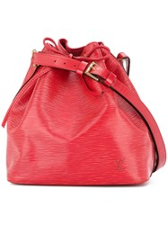 Louis Vuitton Vintage Petit Noe Shoulder Bag Red