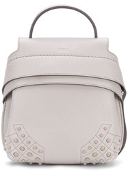 Tod's Mini Front Logo Backpack Grey