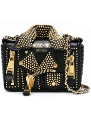 Moschino Biker Shoulder Bag Black