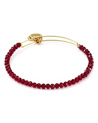 Alex And Ani Life On Mars Brilliance Bead Expandable Wire Bangle Red