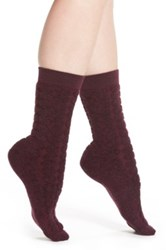 Smartwool Cozy Dot Crew Socks Purple