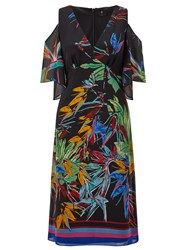 Ariella Breeze Printed Cold Shoulder Dress Multi Coloured Multi Coloured