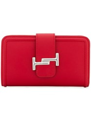 Tod's Double T Medium Wallet Red