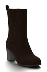 Shoes Of Prey Women's Mid Calf Boot Chocolate Suede