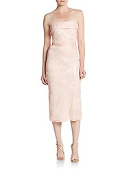 Js Collection Strapless Sequin Cocktail Dress Blush