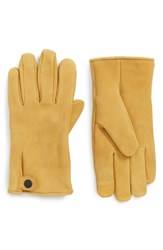 Ugg Leather Gloves Timber Tan
