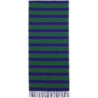 Kenzo Blue And Green Wool Memento Scarf