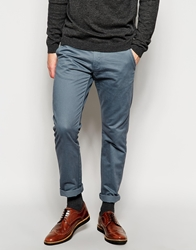 Selected Chinos In Slim Fit Stormyblue