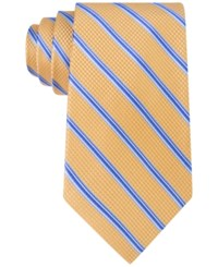 Michael Kors Men's Houndstooth Stripe Tie Yellow