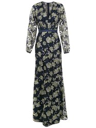 Tufi Duek Embroidered Long Dress Blue