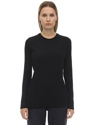Falke Authentic Wool Sweater Black