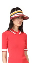 Kate Spade New York Berber Stripe Visor Multi Paprika