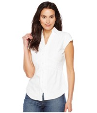 Scully Cantina Elaina Cap Sleeve Top White Women's Clothing