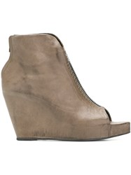Isaac Sellam Experience Open Toe Ankle Boots Grey