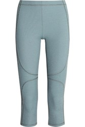 Theory Ribbed Stretch Jersey Leggings Blue
