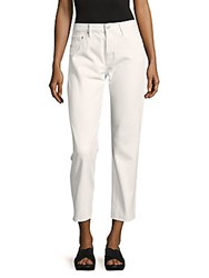 Ernest Sewn New York Victoria Cotton Cropped Pants White Mesh