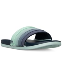 Adidas Women's Adilette Cloud Foam Armad Slide Sandals From Finish Line Collegiate Navy Easy Gree