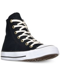 Converse Women's Chuck Taylor Hi Aztec Print Casual Sneakers From Finish Line Black Parchment White