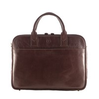 Maxwell Scott Bags Quality Leather Brown Laptop Briefcase Bag Calvino