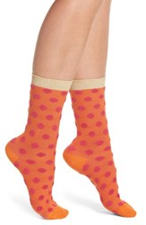 Paul Smith Ezmeralda Fluffy Crew Socks Orange