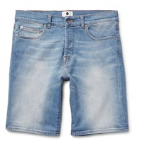 Nn.07 Stretch Denim Shorts Blue