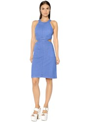 Stella Mccartney Cut Out Stretch Cotton Denim Dress
