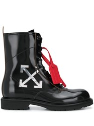 Off White Arrow Logo Combat Boots 60