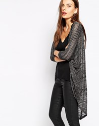 Ax Paris Lightweight Longline Cardigan Chocolate