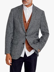 J.Crew Moon Blazer Grey Herringbone