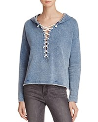 Generation Love Lace Up Hoodie Indigo