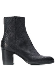 Pantanetti Snakeskin Effect Ankle Boots Grey