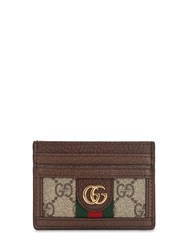 Gucci Ophidia Gg Supreme Card Holder Brown