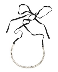 Abs By Allen Schwartz Ribbon Tie Necklace 60 Silver