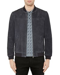 Ted Baker Vipers Suede Bomber Jacket Navy