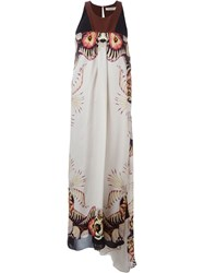 Etro Floral Print Sleeveless Maxi Dress Black