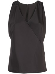 Peter Cohen V Neck Blouse Black
