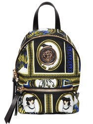 Versus By Versace Archive Printed Nylon Mini Backpack Multicolor