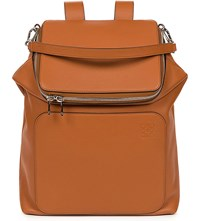 Loewe Goya Leather Backpack Tan