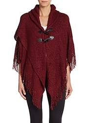 Saks Fifth Avenue Ripple Knit Toggle Cardigan Red