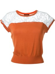 Loveless Lace Detail Top Yellow And Orange