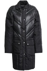 By Malene Birger Woman Dorav Quilted Shell Paneled Canvas Down Coat Black