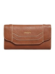 Ollie And Nic Erin Large Flapover Purse Tan