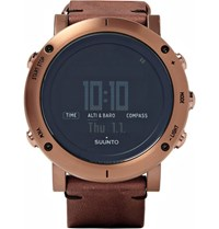 Suunto Essential Steel And Leather Watch Brown